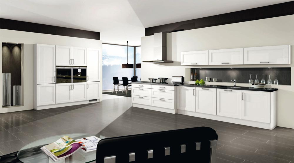 cuisine blanc brillant milano 2531 menuiserie dufays. Black Bedroom Furniture Sets. Home Design Ideas