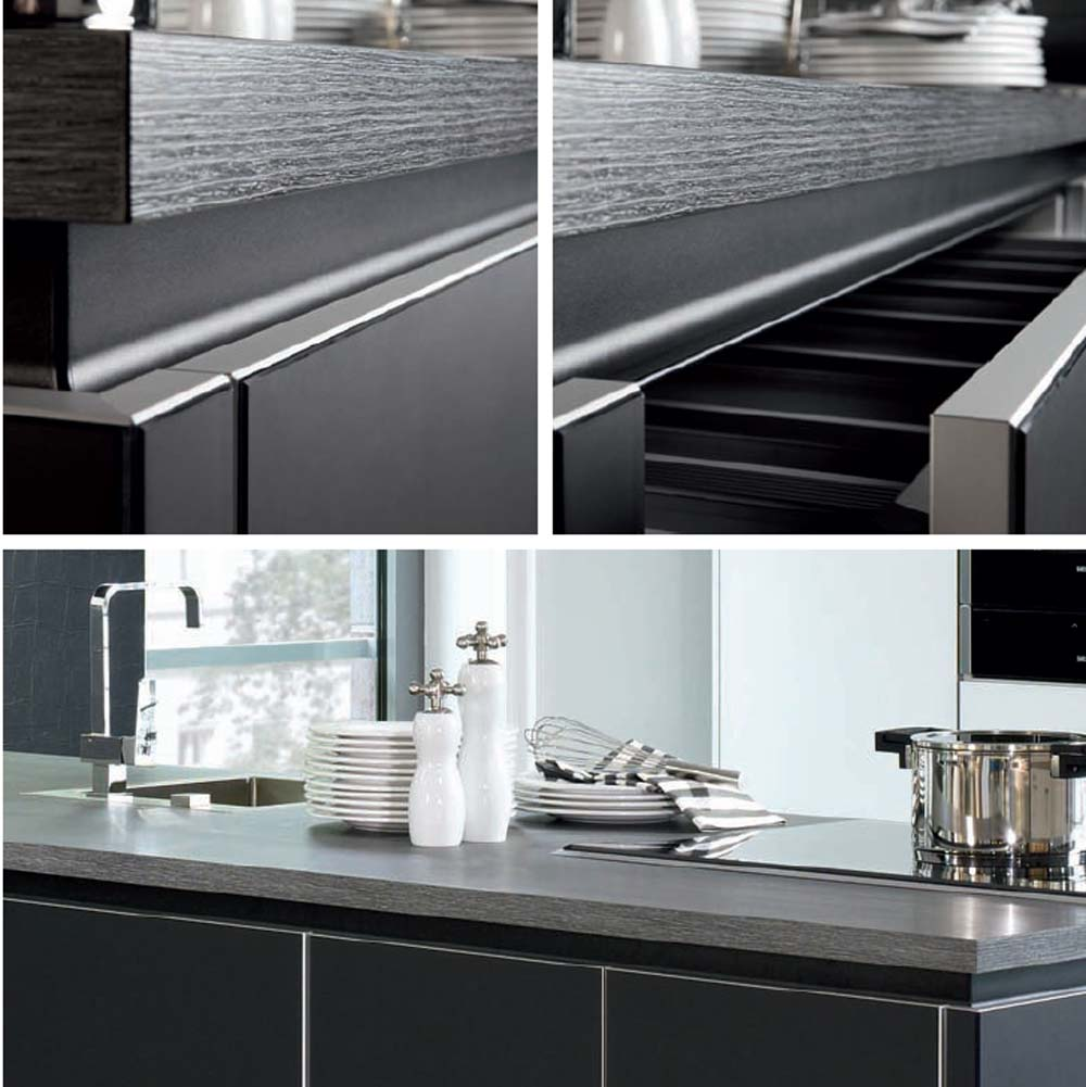 Porte cuisine verre noir X-Velluto 4066